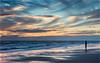Crosby Statue (Phil Durkin) Tags: 2017 crosby dusk evening lancashire statue sunset surreal beach cloudscape goldenhour nopeople shore shoreline summer water
