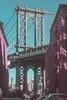 That One Cliché Shot (intimidatingrice) Tags: nyc newyork newyorkcity amateur amateurphotographer amateurphotography brooklyn manhattanbridge cliche pink blue bridge bridgephotography dumbo