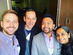 Enjoying #NTHS2017 with fellow @permanentedocs and potential future ones 😀. Emile Pinera & Sangeeta Iyer, MD from TSPMG & MAPMG committed to the #TotalHealth of @kpthrive transgender members. Another reason I ❤️ this century.