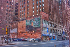 Detroit  Michigan...Old Ghost Sign ~ On Pizza Factory Building (Onasill ~ Bill Badzo) Tags: detroit mi michigan waynecounty ghostsign bank pizza factory recording studio griswold building albert kahn architect architecture 1927 office senior housing apartments retail store fronts nrhp district onasill trip tourist travel vintage photo old historic motown music blues rock historical parking lot fafe sign lost gone