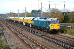 50008 & 56303 TNT 4Z03 Carlisle to Derby RTC (Powerhaul70Pey) Tags: 50008 56303 4z03 carlisle derby euxton rail grinder loram freight train locomotive railway thunderer