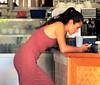 Coco Lattee coffee shop (thomasgorman1) Tags: shop coffee latte woman employee rarotonga island canon street candid streetphotos streetshots public business cellphone