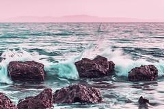 Waves (vlajko611) Tags: cloud cloudscape coastline greece dramaticsky dusk horizonoverwater landscape rock aegeansea scenic sea seascape sunlight sunset surf twilight vibrantcolor wave sand light nature rocky bright stone