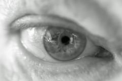Cataracts (OzzRod) Tags: pentax k1 smcpentaxk50mmf12 raynox250 blackandwhite monochrome selfie closeup eye dailyinnovember2017