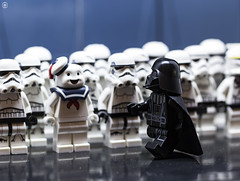 Trooper Lineup (Jezbags) Tags: lego star wars trooper lineup legos toy toys macro macrophotography macrolego macrodreams canon60d canon 60d 100mm closeup upclose starwars stormtrooper stormtroopers troopers darthvader stay puft