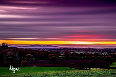 This view overlooking the rolling Malvern Hills is just a few miles down the road from where I live.  I finally decided to stop there a few evenings ago & capture this nice sunset picture. (Ikigai Designs) Tags: nakedplanet unitedkingdom england sigma18300mm photography farms worcester sunset canon80d uk skybrilliance malvern worcestershire ndfilter longexposure skysunset skysultans malvernhills landscapephotography worcestergram passportcollective naturephotography