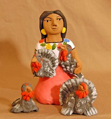 Happy Thanksgiving 2017 (Teyacapan) Tags: pottery mexican oaxacan folkart aguilar crafts ceramics turkeys woman guajolotes