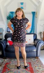 Black Shoes (Trixy Deans) Tags: tgirl tv transsexual transgendered trixydeans tgirls xdresser crossdresser cd cute crossdressing sexyheels sexylegs sexy hot highheels dress shortdress