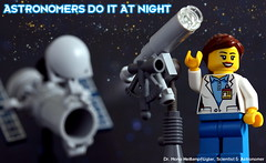 Astronomers do it at night (y20frank) Tags: lego astronomers telescpe space science drmonaheisenpflügler minifigures museum hubble spacetelescope