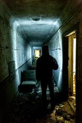 Hallway (jessemgoldman) Tags: detroit school abandoned forgotten urbex city urban elementary institution education decay disintegrate hallway flashlight hall person