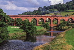 6201 Crossing Whalley Arches. 19/07/2003 (briandean2) Tags: 6201 whalleyarches steam railways uksteam ukrailways