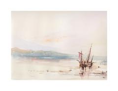 Scène de rivage (Yvan LEMEUR) Tags: aquarelle watercolour scènecôtière scènederivage peinture marine bateau mer acuarela voilier plage