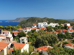 Alonnisos (jeff.dugmore) Tags: alonnisos greece greekisles sporades europe travel coast shore ocean aegean sea sky trees outside outdoors landscape seascape seaside water tranquil bay olympus