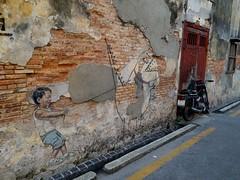 Ah Quee Street Art @ Georgetown (阿Dex) Tags: ahqueestreet streetart street mural dinosaur georgetown penang malaysia wall heritage