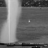 Jet d'Eau (wicks_photo) Tags: jetdeau blackandwhite fountain geneva lacma lake lakegeneva lelacléman sailboat switzerland