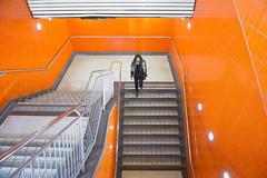 L'Orange (Underground Joan Photography) Tags: ttc queenstreet queensubwaystation subwaytiles toronto urban stairs