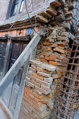 Supporting the past (posterboy2007) Tags: nepal building detail earthquake damage prop collapse sony bhaktapur