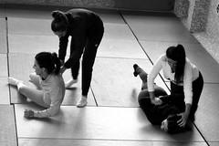 _DSC1123 (t.horak) Tags: martial art monochrome fight fighters girls women training arms legs
