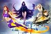 Titans! (PatLoika) Tags: terra raven starfire teentitans titans dc dccomics dccomicscosplay cosplay costume cosplayphotography