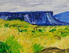 Out West - Acrylic (BKHagar *Kim*) Tags: bkhagar painting paint acrylic art artwork mountain desert mojave butte landscape