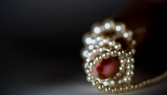 You'll be wrapped around my finger (PhilR1000) Tags: pearls macro fingertips macromondays jewellery stringofpearls