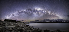 panorama newzealand milkyway (s.o.s-Kevin) Tags: neuseeland newzealand wasser see lake mountcook waterlakepukaki mtcook nacht night stars sterne milkyway milchstrase southerncross freecamping canon 5dmkii sigma sigma24art 24mm f14 berge spring frühling travel reisen pano panorama 180° landschaft landscape himmel