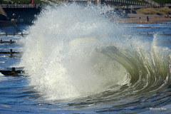 Wave tricks (mootzie) Tags: water sea waves funky froth white beach aberdeen scotland cold ripcurl