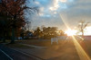 Sun-flare 11-14-17 (MelenaMe) Tags: sunflare sun sunray sky cloud clouds sunshine autumn street road
