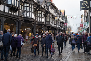 * In Chester: Sauntering Shoppers