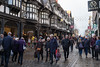 * In Chester: Sauntering Shoppers (velodenz) Tags: velodenz fujifilm x100f fujifilmx100f steam excursion england great britain gb united kingdom uk city town chester cheshire inexplore explore views street photography interesting top20 toptwenty top 20 twenty repostmyfuji repostmyfujifilm fuji 8000 8000views xseries