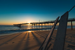 Thanksgiving At The Beach (marko138) Tags: beach ocean pier avonpier outerbanks northcarolina sunrise water waves sand obx goldenhour nature outdoors thanksgiving bluehour thebluehour