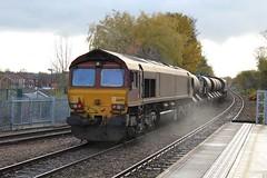 EWS / DB Cargo 66091 - Mansfield (the mother '66' 66001) Tags: ews dbschenker dbcargo class66 robinhoodline mansfield nottinghamshire rhtt railways mansfieldwoodhouse 66091