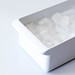 Ice in a White Container