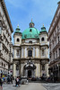 The impressive Peterskirche - Vienna (-MikeBakker-) Tags: vienna austria wien österreich street streets streetphotography square platz graben historic unesco heritage perspective angle composition house houses building buildings view travel traveling traveler travelling traveller urban urbanexploration exploration exploring explore wanderlust nikon nikond3100 d3100 1855mm dslr camera lens colourful colours colour blue milky sky europa europe white light sunlight sunshine summer day afternoon peterskirche church kirche baroque barock people impressive structure