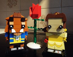 Beauty and the Beast (Paranoid from suffolk) Tags: 2017 lego brickheadz beauty belle beast disney rose red