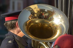 BrassReflection (Tony Tooth) Tags: nikon d7100 nikkor 55300mm horn brass instrument musicalinstrument salvationarmy reflection remembrancesunday november leek staffs staffordshire