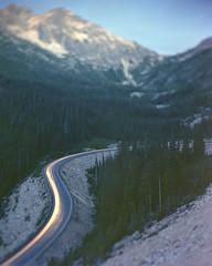 Washington Pass (voetshy) Tags: washington pass north cascades national park highway 20 tilt 4x5 toyo 45a fuji pro 160s headlights long exposure mountains sunset sky trees schneider kreuznach 150mm symmar 56 convertible