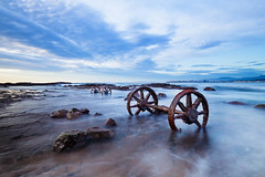 Wheel sets || Windang Island (David Marriott - Sydney) Tags: lakeillawarra newsouthwales australia au wheel set bogies trucks windang island train iron long exposure