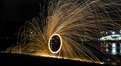 171202 3282 (steeljam) Tags: steeljam nikon d800 lightpainters wire woll spinning o2 isle dogs beach long exposure