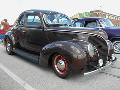 1938 Ford Deluxe Coupe (splattergraphics) Tags: 1938 ford deluxe coupe customcar carshow nsra streetrodnationalseast yorkexpocenter yorkpa