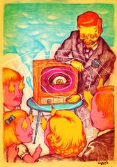 L'Oeil du Cyclone (arnus horribilis) Tags: distorsion loeilducyclone canalplus canal 90s tv télé télévision émission fire burning eye power