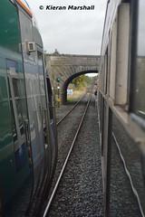 22020 at Thurles, 14/10/17 (hurricanemk1c) Tags: railways railway train trains irish rail irishrail iarnród éireann iarnródéireann 2017 22000 rotem icr rok 4pce 22020 thurles 0855limerickheuston
