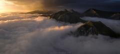 En el Reyno de los cielos (inaxiotejerina) Tags: nafarroa navarra navarre salazar zaraitzu pirineos pirinioak pyrénées pyrenees verano summer uda niebla nubes amanecer sunrise