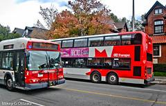 Old Meets New - Ottawa 11 17 (Mikey G Ottawa) Tags: mikeygottawa canada ontario ottawa street city transit bus new old doubledecker octranspo