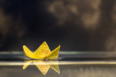 """Alone"" (tisatruett) Tags: alone boat water macro macromondays rhymeswithstone"