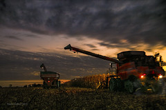 Until The Day Is Done (jackalope22) Tags: harvest combine farming night working case tractor corn swenson rob