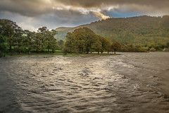 Land of fire - Walla Crag erupts again!!!.. (AJFpicturestore) Tags: wallacrag derwentwater keswick cumbria thelakedistrict shore highwater sky skyscape alanfoster htmt treetuesday