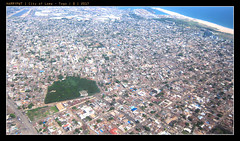 green field (harrypwt) Tags: harrypwt togo lome aerial city street green field coastal capital canons95 s95 framed