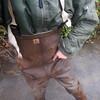 Chameau-braun-Bach7932 (Kanalgummi) Tags: sewer worker rubbe waders chestwaders wathose bomber jacket bomberjacke kanalarbeiter égoutier