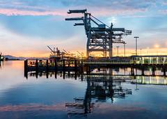 Oakland Harbor (Ash Bowie) Tags: nikon d750 oakland california sunset water bay boats